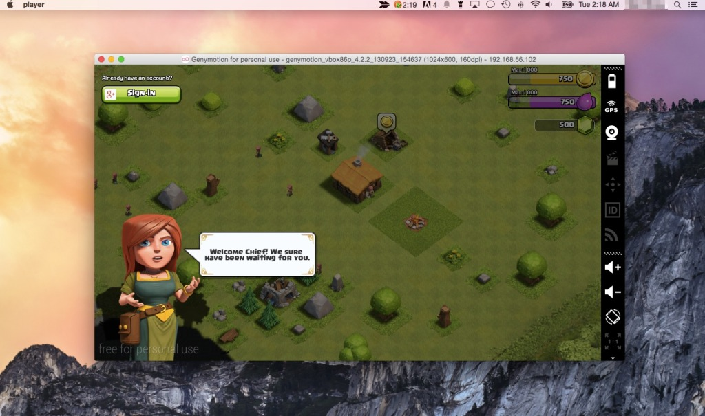 Clash of Clans for the Mac